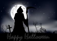 Halloween scary night. Of illustration Royalty Free Stock Images