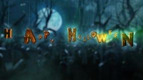 Halloween scary night stock footage