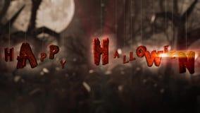 Halloween scary night stock video footage