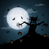 Halloween scary night. Vector background Stock Images