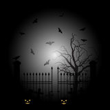 Halloween scary night. Vector background Stock Image