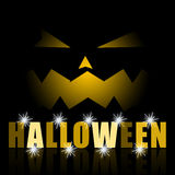 Halloween scary pumpkin background Stock Photography
