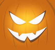 Halloween scary pumpkin face background Vector Illustration