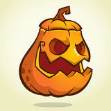 Halloween scary pumpkin head scarecrow, vector illustration for Halloween holiday Stock Photography