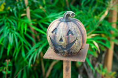 Halloween scary pumpkin with smile Royalty Free Stock Photo