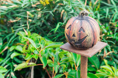 Halloween scary pumpkin with smile Royalty Free Stock Photos