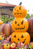 Halloween scary pumpkin with smile Stock Images