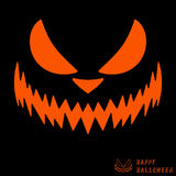 Halloween scary pumpkin template Royalty Free Stock Photography