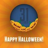 Halloween scary pumpkins Royalty Free Stock Image