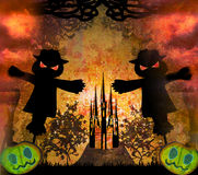Halloween scary scarecrow Stock Images