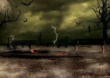 Halloween scary scene Royalty Free Stock Images