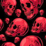 Halloween scary seamless vector background with the skull Royalty Free Stock Photo