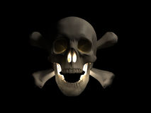 Halloween scary skull 3d render Stock Images