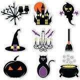 Halloween scary, spooky, mummy, cyclops, vampire. Monster, zombie owls Royalty Free Stock Photo