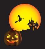 halloween scena ilustracji