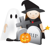 Halloween scene Stock Images