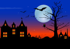 Halloween scene Royalty Free Stock Images