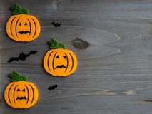 Halloween scene with bat and moon against Royalty Free Stock Images