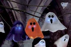 Halloween scene on dark background Royalty Free Stock Photos