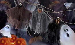 Halloween scene on dark background Royalty Free Stock Photography