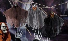 Halloween scene on dark background Royalty Free Stock Photo