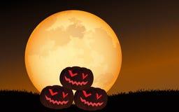 Halloween scene royalty free illustration