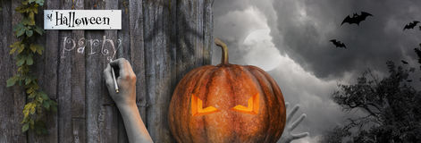Halloween Scene street halloween. Halloween Scene - street halloween illustration stock illustration