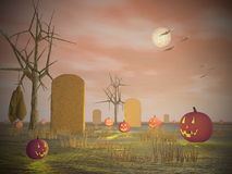 Halloween scenery - 3D render Royalty Free Stock Images