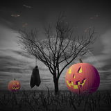Halloween scenery - 3D render Stock Image