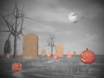 Halloween scenery - 3D render Royalty Free Stock Photography