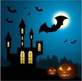 Halloween Scenery. Royalty Free Stock Photography