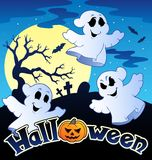 Halloween scenery with sign 2 Stock Images