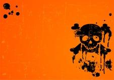 Halloween-Schädelhintergrund lizenzfreie abbildung