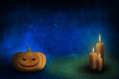 Halloween-Schablonendesign mit Raum für Text Lizenzfreies Stockbild