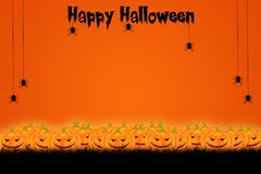 Halloween-Schablonendesign mit Raum für Text oder Mitteilung stockbild
