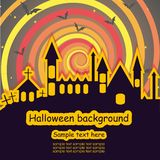 Halloween-Schablonenrahmen lizenzfreie abbildung