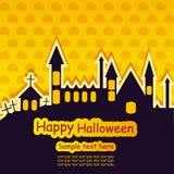 Halloween-Schablonenrahmen stock abbildung