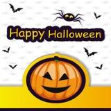 Halloween-Schablonenrahmen für Karte Vektor lizenzfreie abbildung