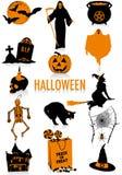 Halloween-Schattenbilder Stockfoto