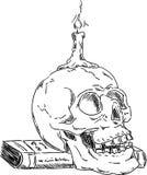 Halloween-schedel Royalty-vrije Stock Afbeelding