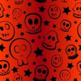Halloween-Schedelpatroon Royalty-vrije Stock Afbeelding