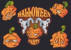 Halloween-Schedels Royalty-vrije Stock Afbeeldingen