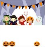 Halloween scherzt Kost?m-Partei stockbild