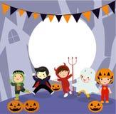 Halloween scherzt Kost?m-Partei lizenzfreies stockfoto