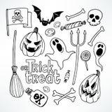 Halloween-schetsreeks Stock Afbeeldingen
