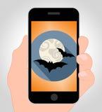 Halloween schlägt das on-line-Show-Hängen gespenstisch und wild Lizenzfreie Stockfotos