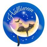 Halloween-Schlafenkatze lizenzfreie abbildung