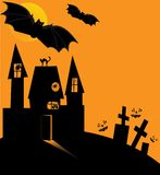 Halloween-Schloss lizenzfreie abbildung