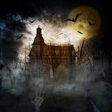Halloween-Schloss Stockbilder