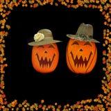 Halloween schnitzte Kürbise Lizenzfreie Stockfotografie